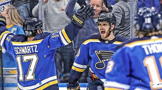 """Хоккеисты """"Сент-Луиса"""" рады выходу в финал. Фото """"Сент-Луис"""""""