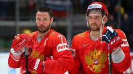Илья Ковальчук и Александр Овечкин, хоккеисты сборной России. Фото IIHF