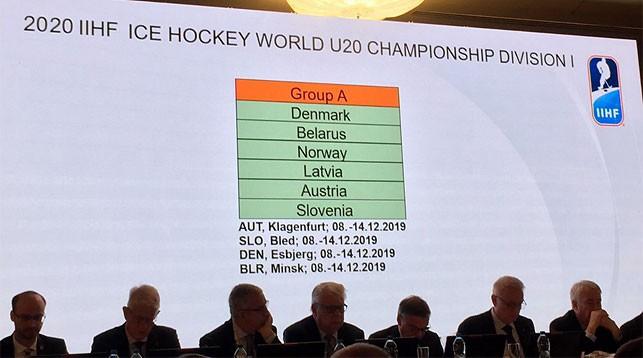 Во время конгресса Международной федерации хоккея. Фото ФХБ