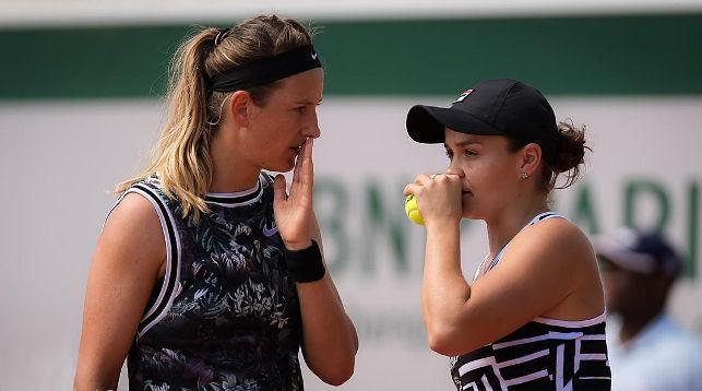 Виктория Азаренко и Эшли Барти. Фото Jimmie48 Tennis Photography