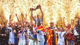 """""""Вардара"""" во второй раз выиграл Лиги чемпионов. Фото EHF"""