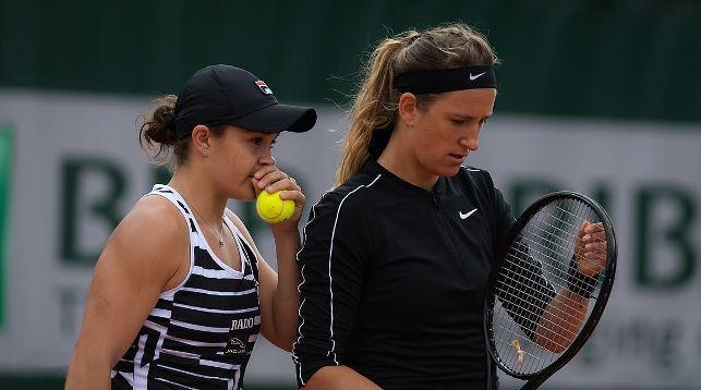 Эшли Барти и Виктория Азаренко. Фото Jimmie48 Tennis Photography