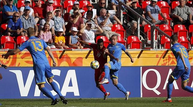 Во время матча Украина - Панама. Фото Украинской ассоциации футбола