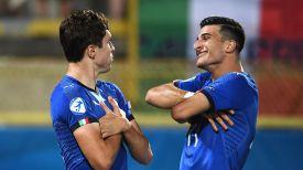 Довольные футболисты сборной Италии. Фото официального Twitter-аккаунта УЕФА