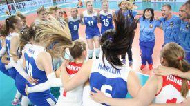 Ликование белорусских волейболисток. Фото CEV