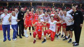 Белорусские баскетболистки. Фото БФБ
