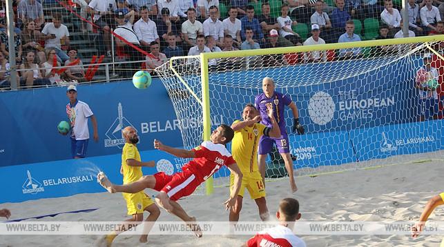 Во время матча Беларусь - Румыния
