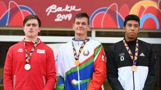 Штеффан Мельхейм, Роман Хартанович и Маттео Маулана. Фото НОК Беларуси