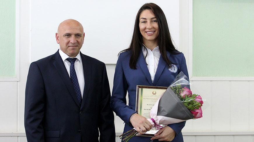 Вячеслав Дурнов и Василиса Марзалюк. Фото Министерства спорта и туризма