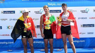 Тристан Ванденбуш, Иван Брынза и Тим Рот. Фото Международной федерации гребли
