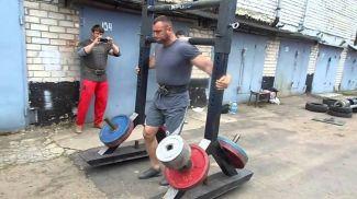 Руслан Багиров во время тренировки. Фото из архива спортсмена