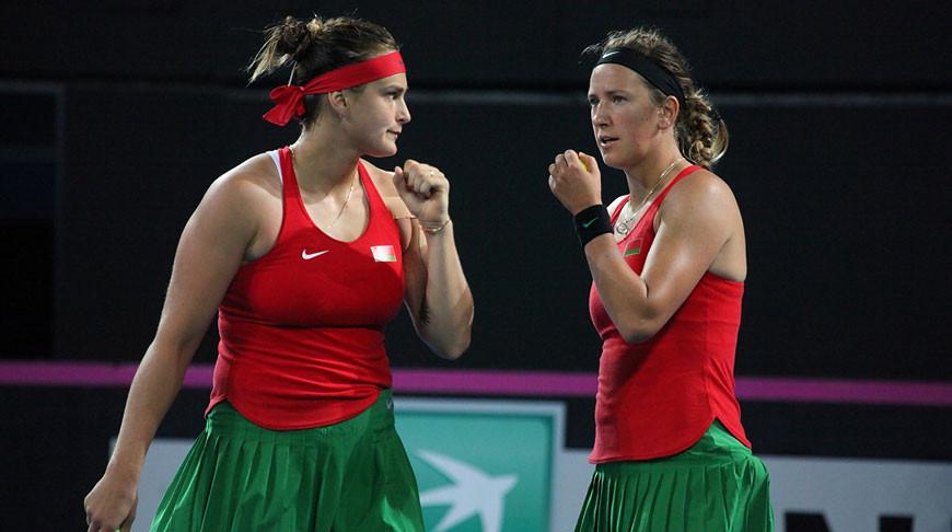 Арина Соболенко и Виктория Азаренко. Фото из архива Белорусской теннисной федерации