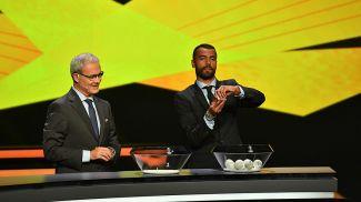 Во время жеребьевки. Фото УЕФА