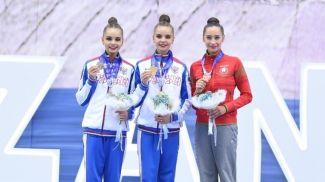 Арина Аверина, Дина Аверина и Екатерина Галкина. Фото российской федерации художественной гимнастики