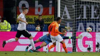 Во время матча Германия - Нидерланды. Фото УЕФА