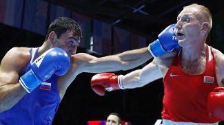 Георгий Кушиташвили и Михаил Долголевец. Фото Федерации бокса России