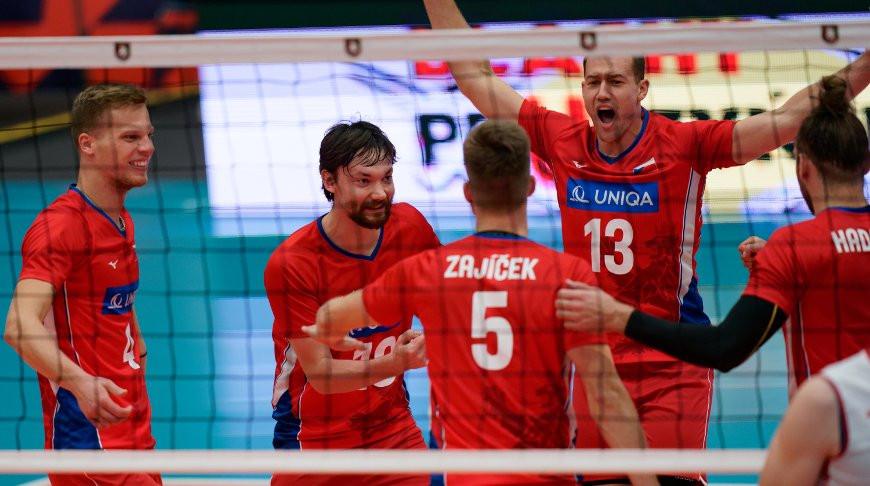 Волейболисты сборной Чехии. Фото CEV