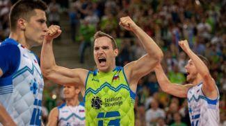 Волейболисты сборной Словении. Фото CEV