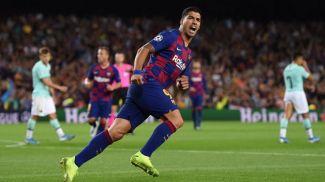 """Луис Суарес празднует гол в ворота """"Интера"""". Фото УЕФА"""