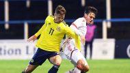 Юниорская сборная Беларуси по футболу сыграла вничью с шотландцами в первом квалификационном раунде Евро-2020