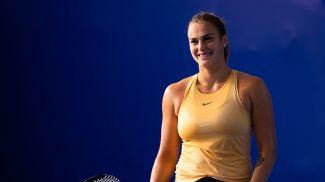 Арина Соболенко тренируется в Чжухае перед стартом на турнире. Фото Jimmie48 tennis photography