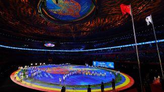 Во время церемонии закрытия VII Всемирных военных игр в Ухане. Фото Синьхуа - БЕЛТА