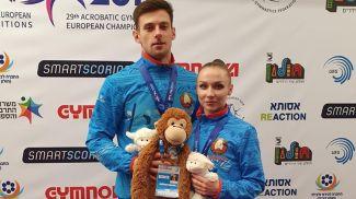 Константин Евстафьев и Анна Касьян. Фото Белорусской ассоциации гимнастики