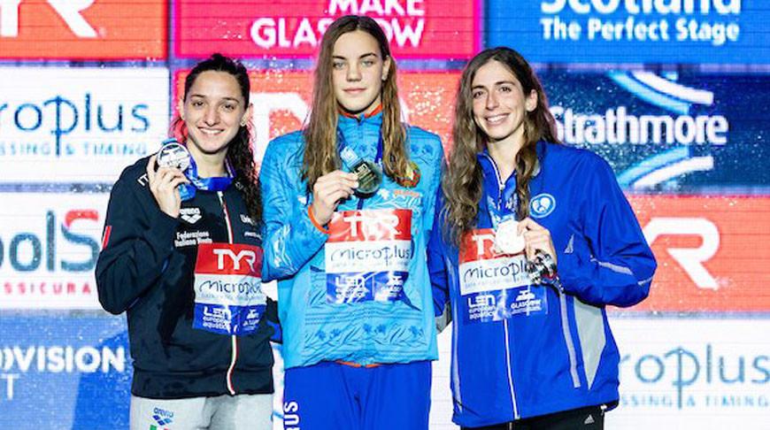 Елена Ди Лиддо, Анастасия Шкурдай и Анна Дунтунаки. Фото организаторов чемпионата Европы