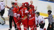 Беларусь победила Австрию на молодежном ЧМ по хоккею в Минске, трижды уступая по ходу матча