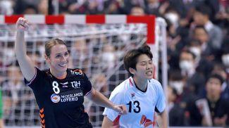 Во время четвертьфинального матча Нидерланды - Республика Корея (40:33). Фото NLteam Handball