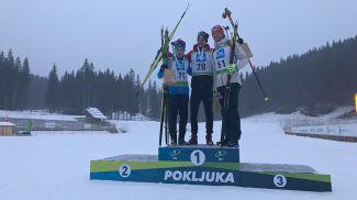 Даниил Серохвостов, Никлас Хартвег и Макс Бархевиц. Фото IBU