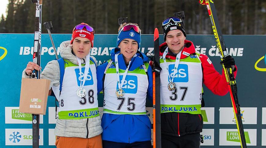 Юлиан Холланд, Дидье Бьона и Никлас Хартвег. Фото IBU