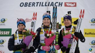 Анна Магнуссон, Йоханна Скоттхейм и Анастасия Меркушина. Фото IBU