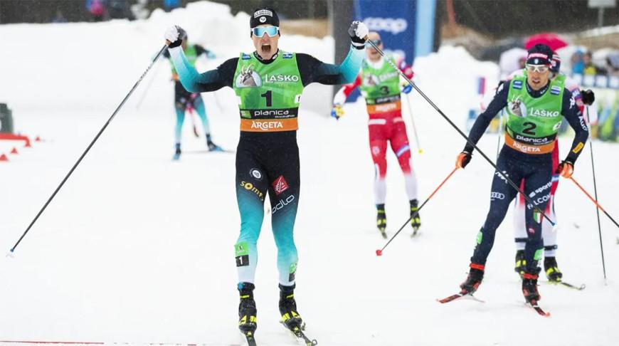 Люка Шанава на финише. Фото FIS