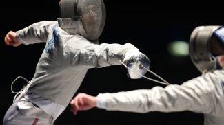Финальные соревнования в сабле у мужчин. Артем Новиков - Кирилл Кирпичев