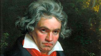 Фрамент портрета Людвига ван Бетховена кисти Йозефа Штилера