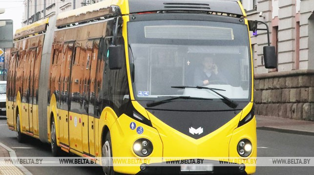 Электробус на улицах города. Фото из архива