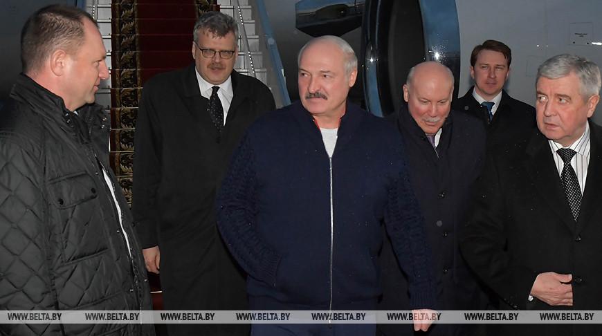 Александр Лукашенко в аэропорту Сочи