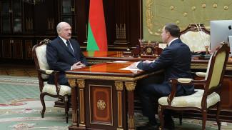 Александр Лукашенко и Николай Снопков