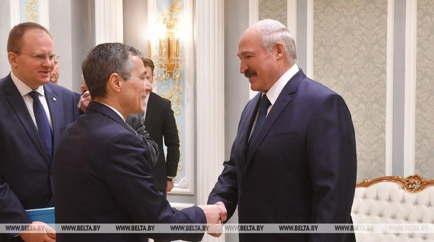 Иньяцио Кассис и Александр Лукашенко