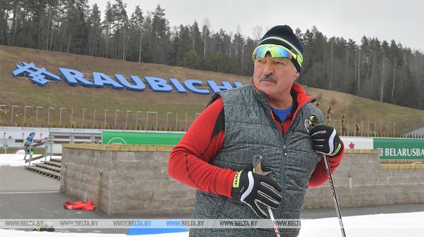 Лукашенко ознакомился с подготовкой «Раубичей» к чемпионату Европы по биатлону