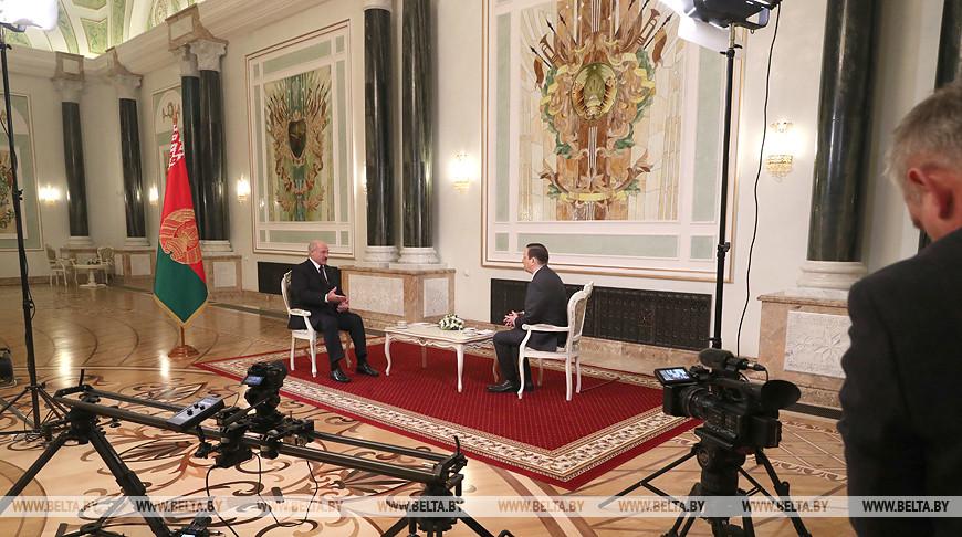 Александр Лукашенко и Владимир Перцов