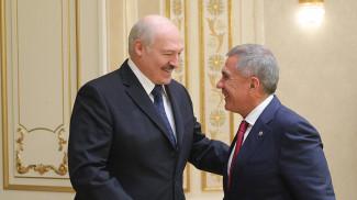 Александр Лукашенко и Рустам Минниханов. Фото из архива
