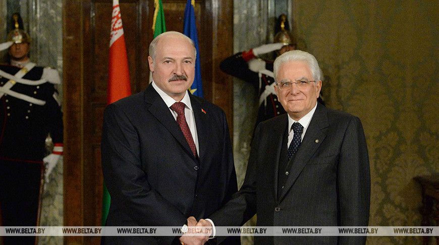 Александр Лукашенко и Серджо Маттарелла. Фото из архива
