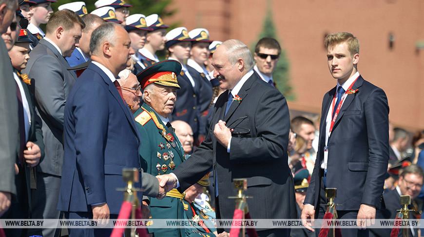 Лукашенко присутствовал на параде Победы на Красной площади в Москве (обновлено)
