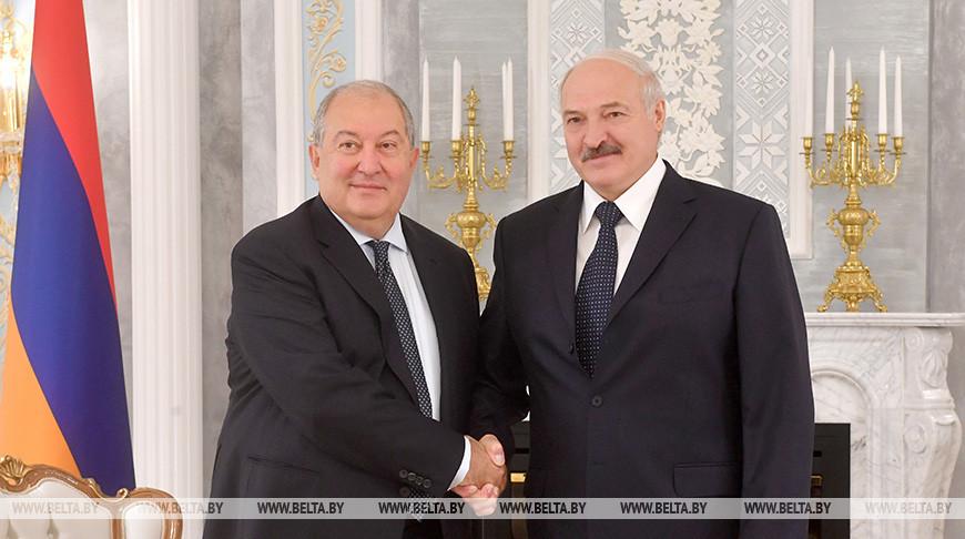 Александр Лукашенко и Армен Саркисян. Фото из архива