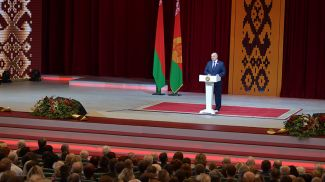 Александр Лукашенко на торжественном собрании