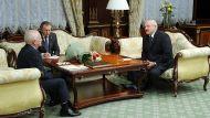 Йозеф Мигаш и Александр Лукашенко во время встречи