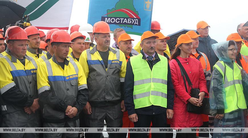 Во время церемонии открытия моста