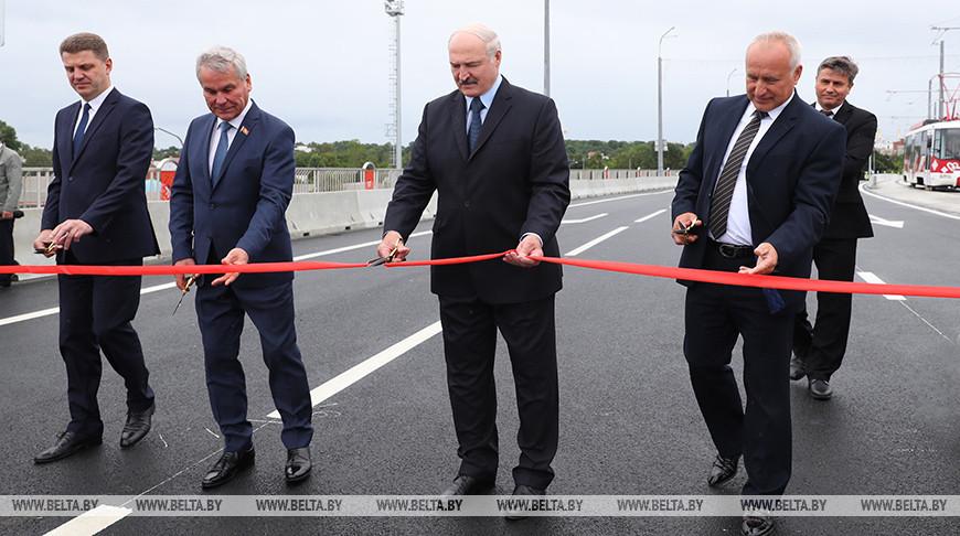 Лукашенко открыл в Витебске реконструированный путепровод «Полоцкий»